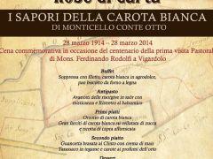 I sapori della carota bianca de.co. di Monticello Conte Otto