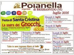 Gli gnocchi de.co. di Poianella  per festeggiare Santa Cristina